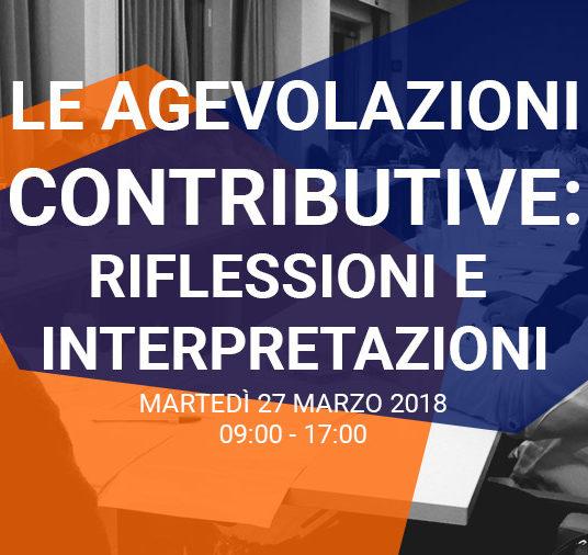 LE AGEVOLAZIONI CONTRIBUTIVE: RIFLESSIONI E INTERPRETAZIONI